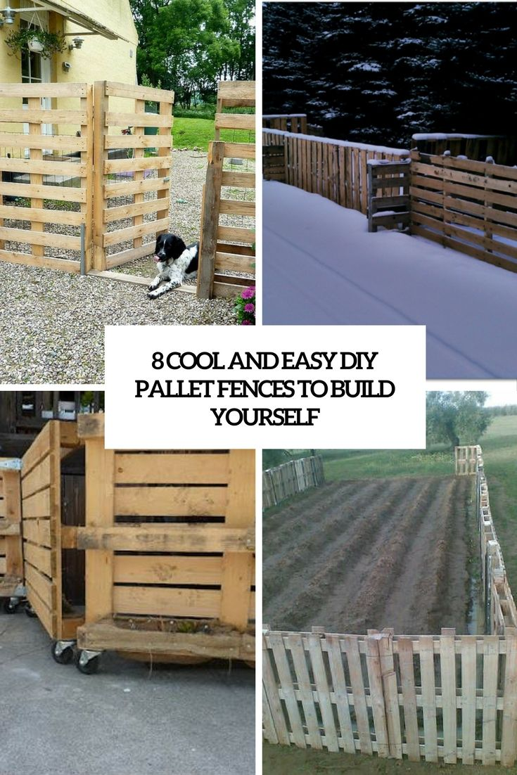 cool and easy diy pallet fences to build yourself cover outdoor
