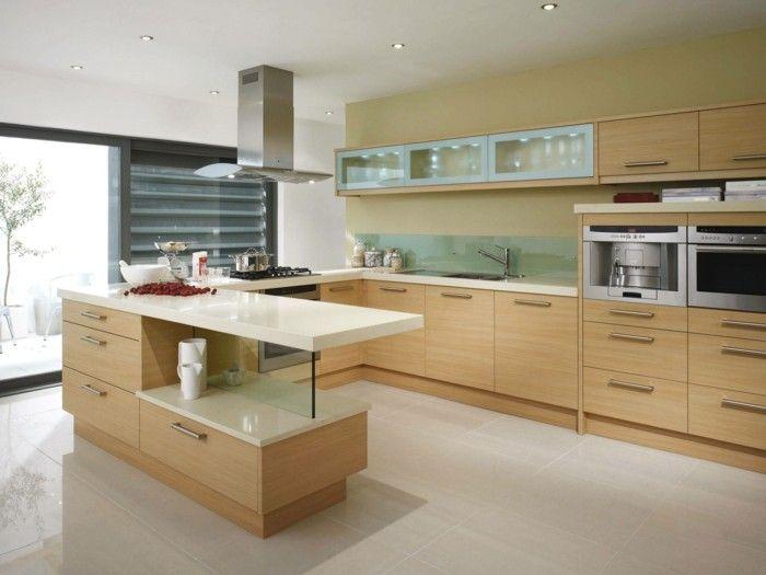Moderne küche u-form  moderne küche in u form in hellen farbtönen | Küche Möbel - Küchen ...