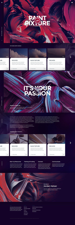 Pixture – Free photoshop PSD website template | Para Photoshop ...