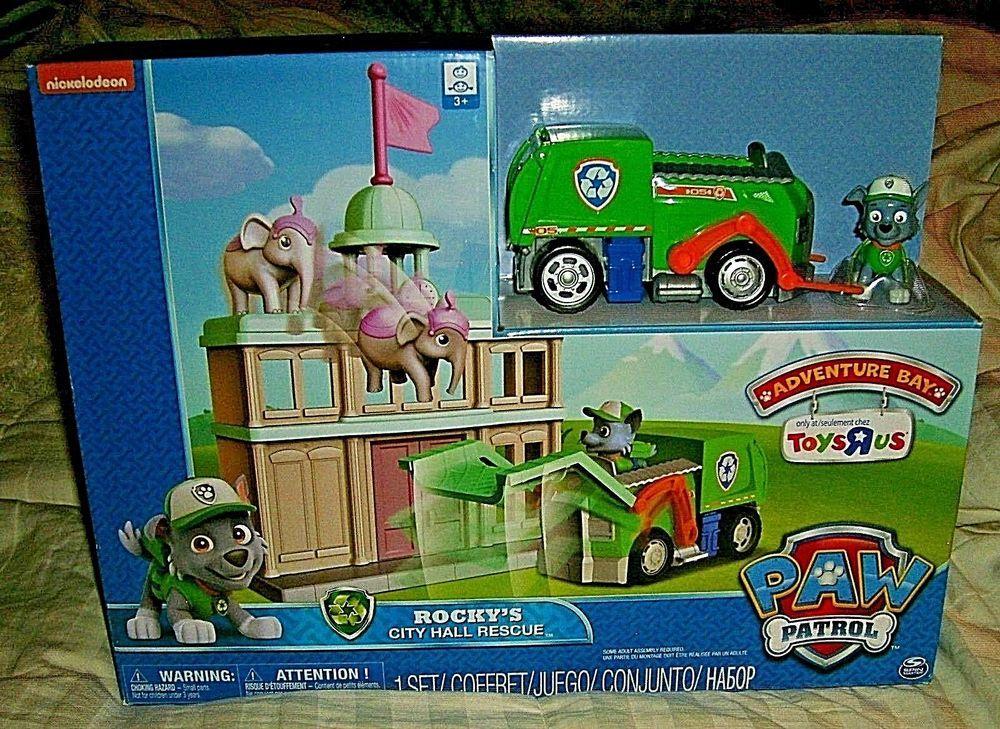 Paw Patrol Adventure Bay Rocky S City Hall Rescue Toys R Us Exclusive Nib Spinmaster Paw Patrol Toys Paw Patrol Paw Patrol Rocky