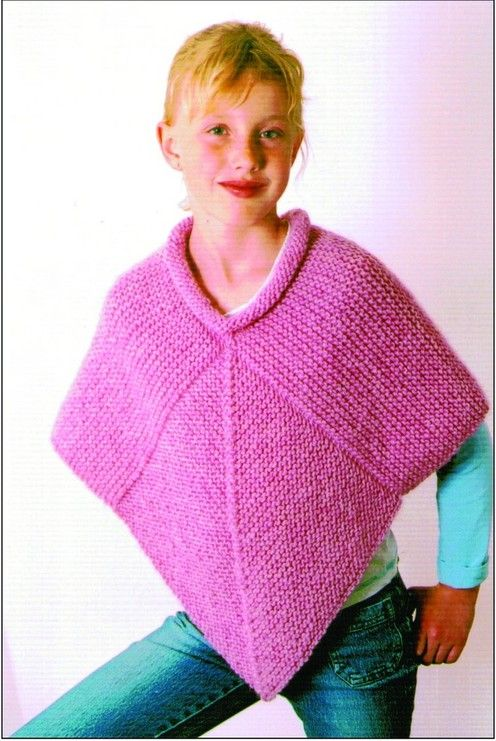 Cabin Fever Bernice Vollick Diamond Poncho Knit Kids