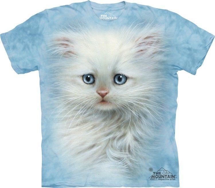 Fluffy White Kitten Kids T-Shirt from The Mountain. Boy Girl Child Sizes NEW #TheMountain #Everyday