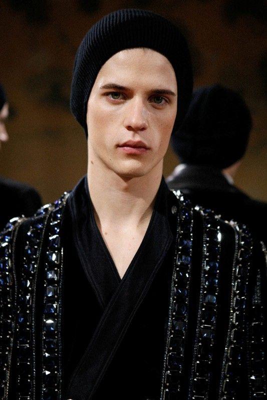 Crystal embellished jacket at Balmain AW15Paris. See more here: http://www.dazeddigital.com/fashion/article/23347/1/balmain-aw15