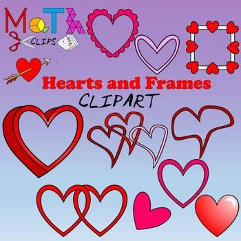 Valentine's Day is right around the corner and you will love this ultimate set of hearts and heart frames to create amazing educational resources. 105 colored images and 31 in black and white. All images are crisp PNG images, 300 dpi and scalable to to any size.