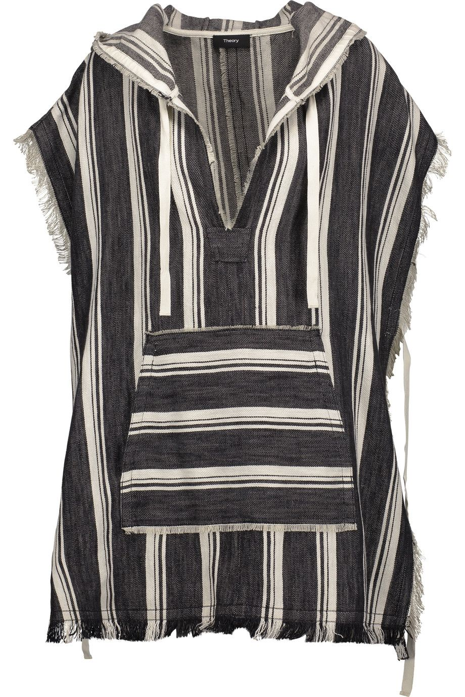 facaa085abd THEORY Asmid Striped Cotton And Linen-Blend Canvas Hooded Cape.  theory   cloth  cape