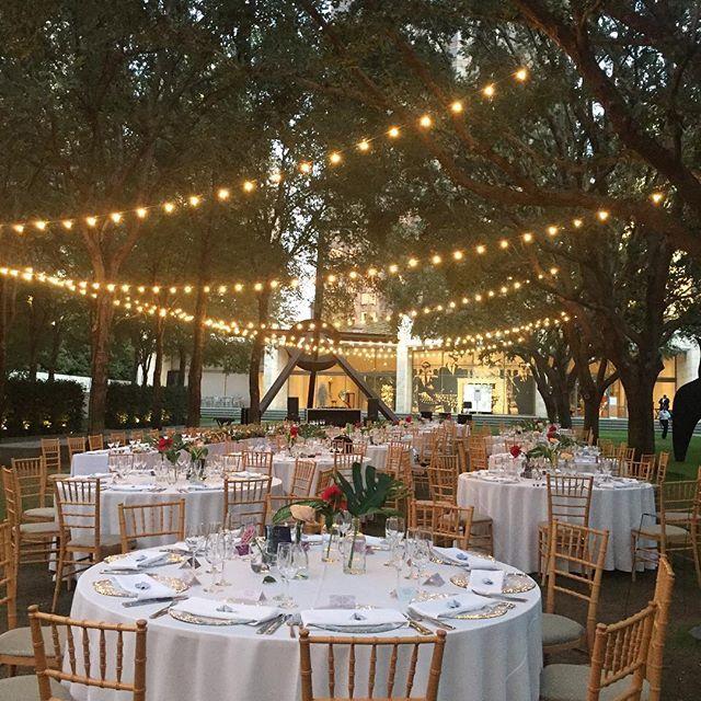A beautiful night for a lawn wedding at @nashersculpturecenter