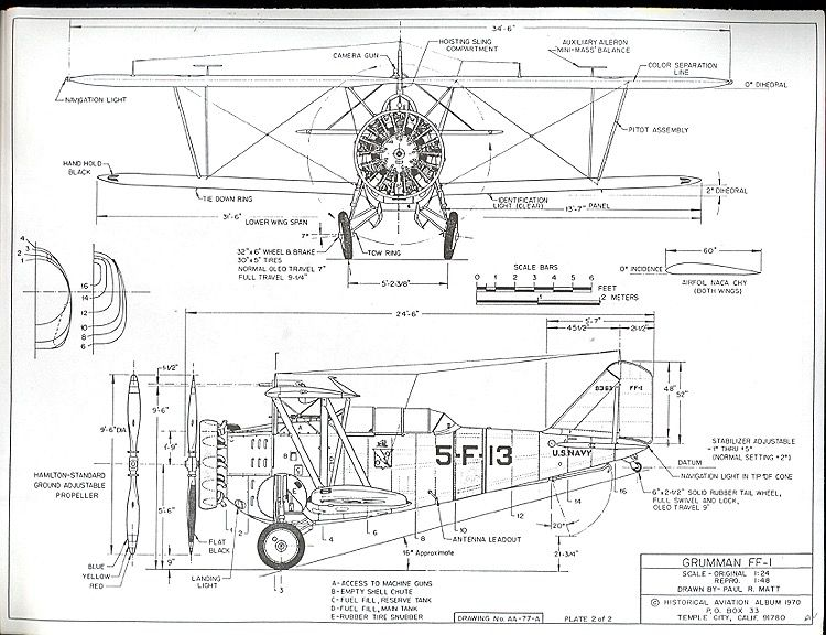 The Grumman FF-1 is one of the model airplane plans available for download and printing.