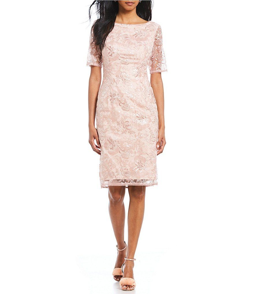 Adrianna Papell Lace Sheath Dress Mother Of Bride Outfits Mother In Law Dresses Midi Sheath Dress