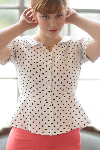 Colette Patterns Hawthorne Peplum Blouse Sewing Pattern   sewing ...