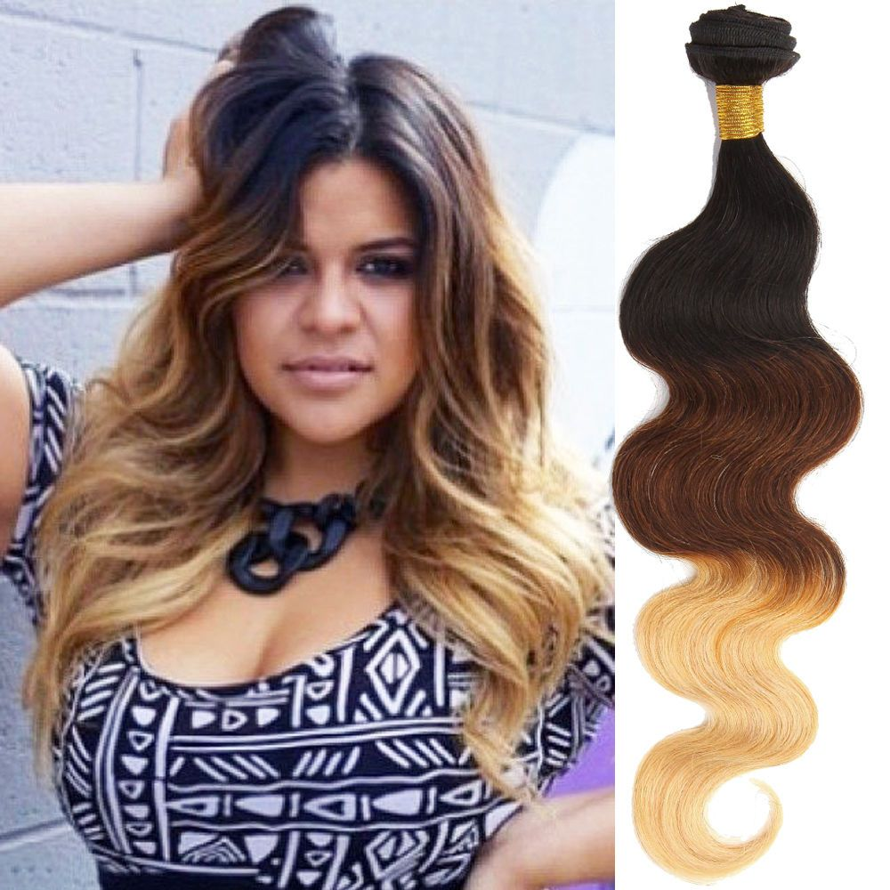 New 12inch us ship 3bundles body wave real human hair extension new 12inch us ship 3bundles body wave real human hair extension ombre hair wefts pmusecretfo Images