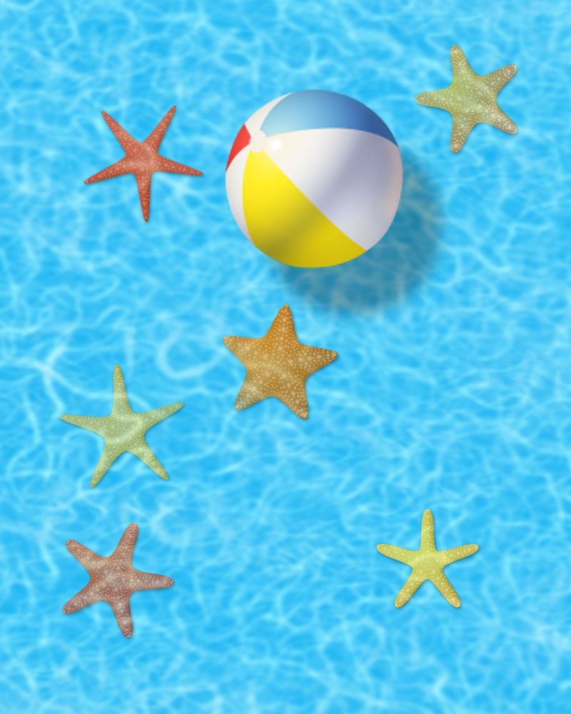 Beach Ball In Water exellent beach ball in water floating on clear blue stock photo s