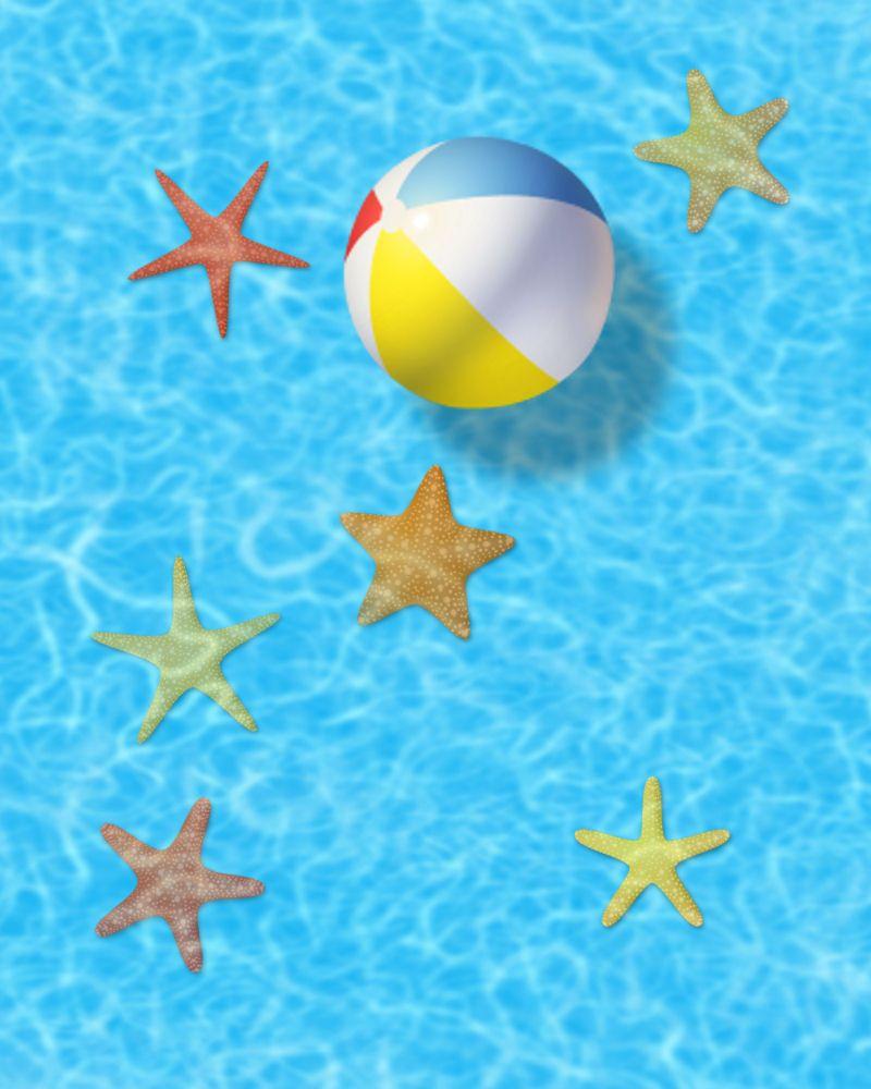 Beach Stars Ball Water Picture Wallpaper Beautiful Pics