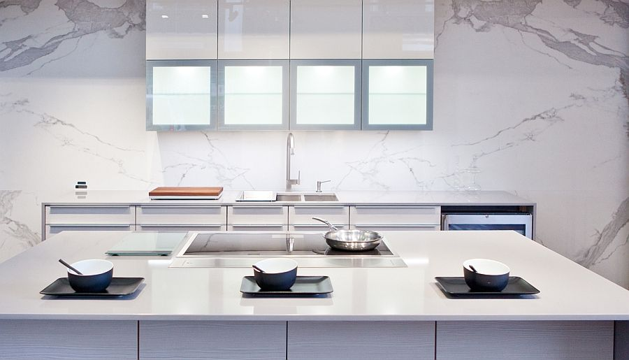 Cutting edge compact surface porcelain slab for the modern kitchen