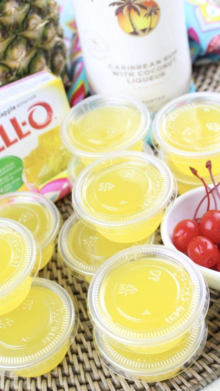 Pina Colada Jello Shots #jelloshots