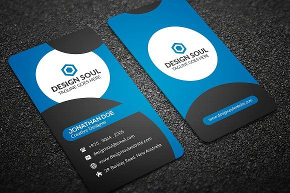 Corporate business card by designsoul14 on creativemarket corporate business card templates adobe photoshop fully layered psd files easy customizable and editable by reheart Choice Image