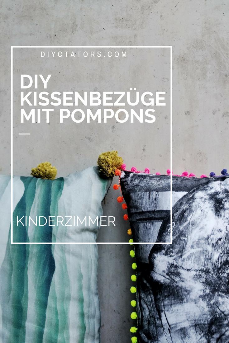 Projekt Kinderzimmer Kissen mit Pompons als Hingucker
