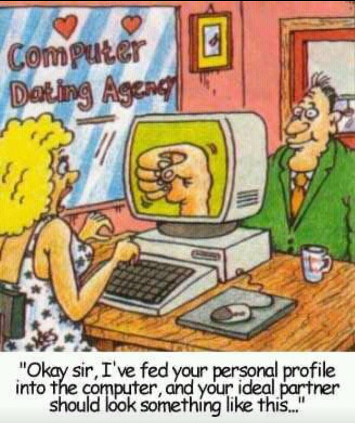 Dating agency cartoons