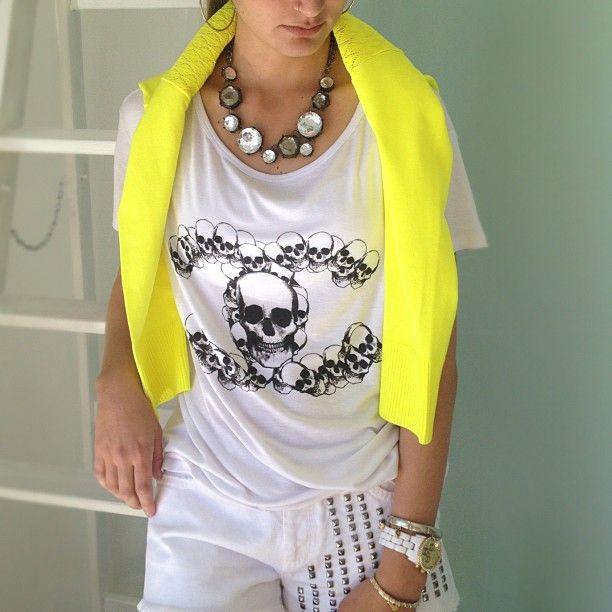 """@Miyuki Boutique's photo: """"Tshirt e maxicolar #iorane shorts #letage #looks #miyukiboutique"""""""