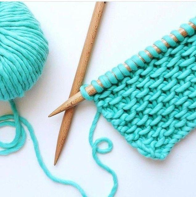 100% Wool Turquoise   Slip stitch knitting, Easy crochet ...