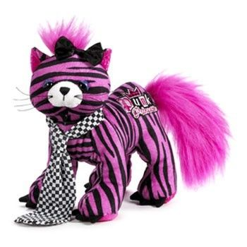 "Pink Kitten Cat Kitty Ganz Webkinz Rockerz 8.5"" Plush Stuffed Animal"