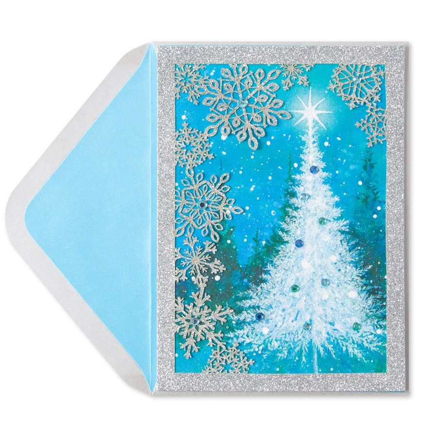 Snow scene w laser cut snowflakes papyrus christmas pinterest cards m4hsunfo