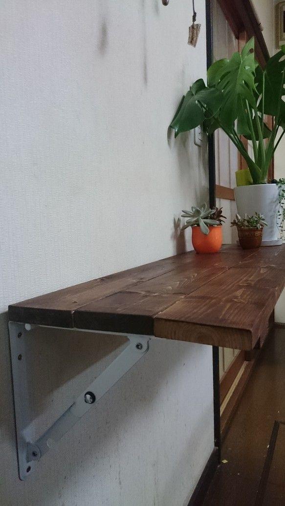 お買い得 折り畳みカウンターテーブル 棚 植物台 送料込み