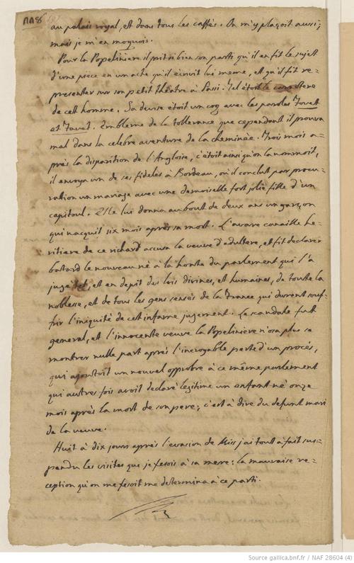 consulter un extrait du manuscrit rare des memoires de casanova avec signature du venitien