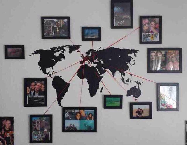 Vacation memory photo map ✈️ ➡️ www.artecomquiane.com
