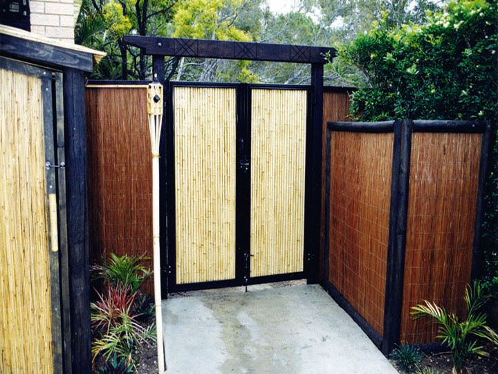 Buy bamboo fencing and rolled bamboo fence panels sunset for Outdoor bamboo screen panels