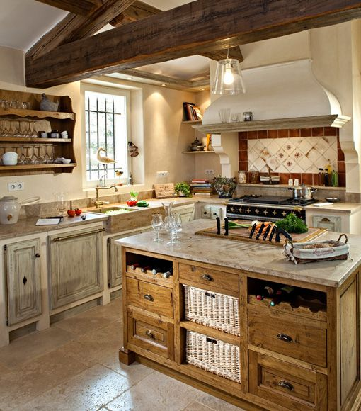 provençal-style kitchens fine woods jc pez homemade in vaucluse ... - Cuisine Equipee Style Provencale