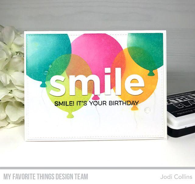 Smile Maker, Big Smile Die-namics, Big Balloons Stencil
