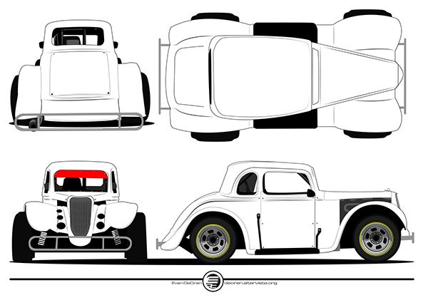 Line Drawing Of Car : Learn to draw the best cartoon cars junior car designer