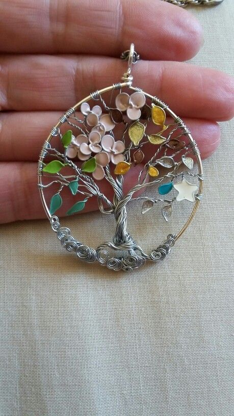 Tree Of Life 4 Seasons Wire Tree Of Life With Nail Enamel Flowers