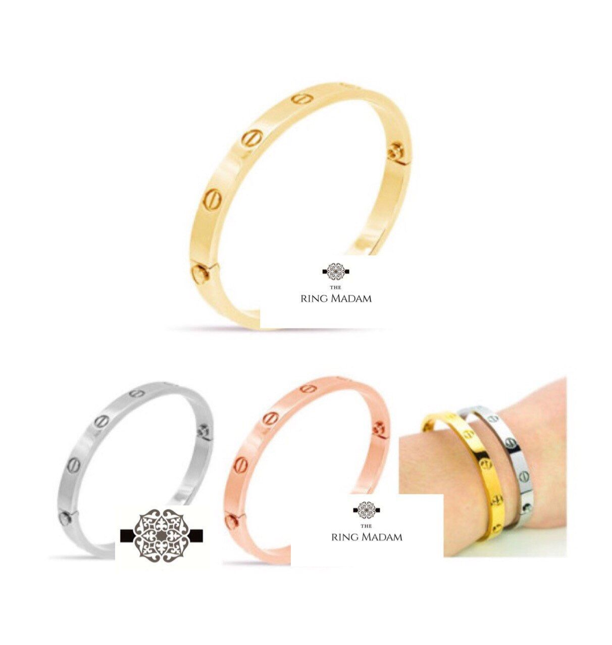 gold bangles size wscrewdriver white screwdriver i paper cartier and motifs love w bracelet screw bangle
