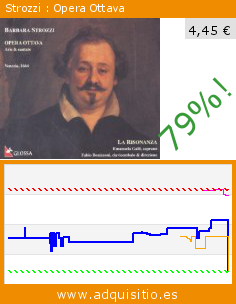 Strozzi : Opera Ottava (CD de audio). Baja 79%! Precio actual 4,45 €, el precio anterior fue de 21,50 €. http://www.adquisitio.es/glossa/strozziarias-cantatas-op8