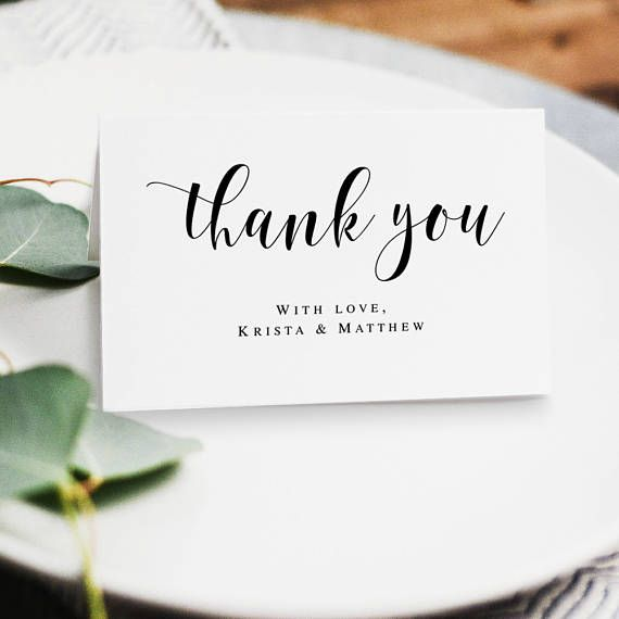 Wedding Thank You Card Template Boho Thank You Card Template