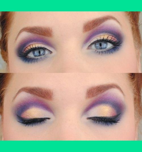 peach navy and purple makeup beauty makeup skin makeup gorgeous makeup. Black Bedroom Furniture Sets. Home Design Ideas