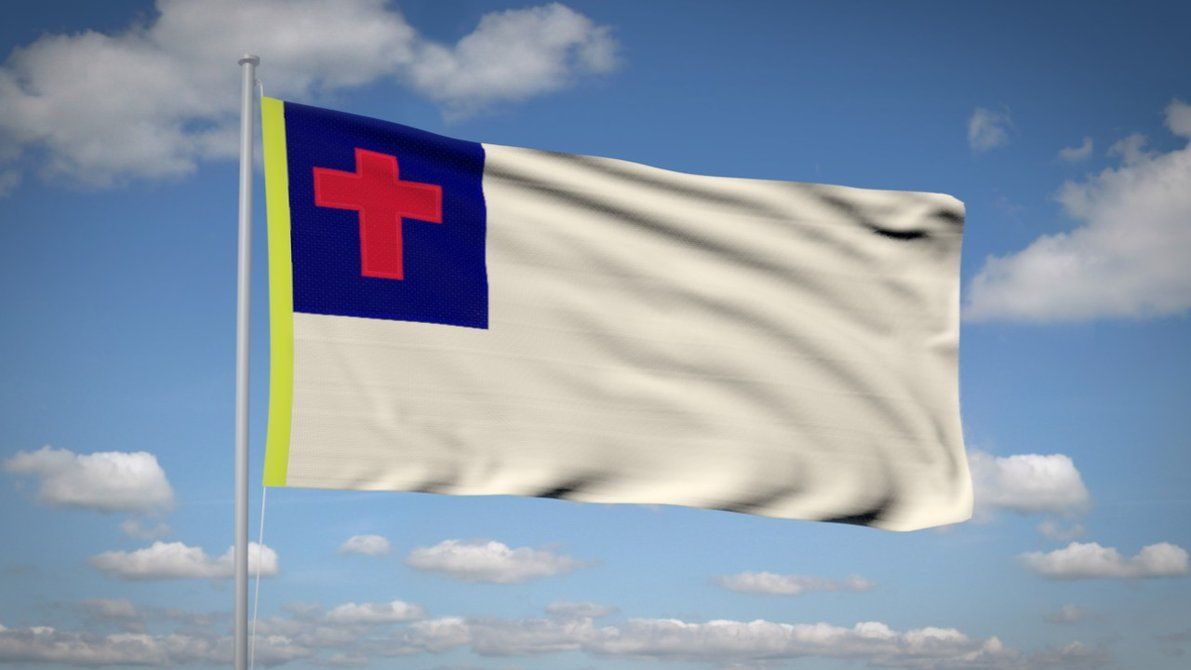 Christian Flag Wallpaper By Sespider On Deviantart Christian Flag Atheist Christian