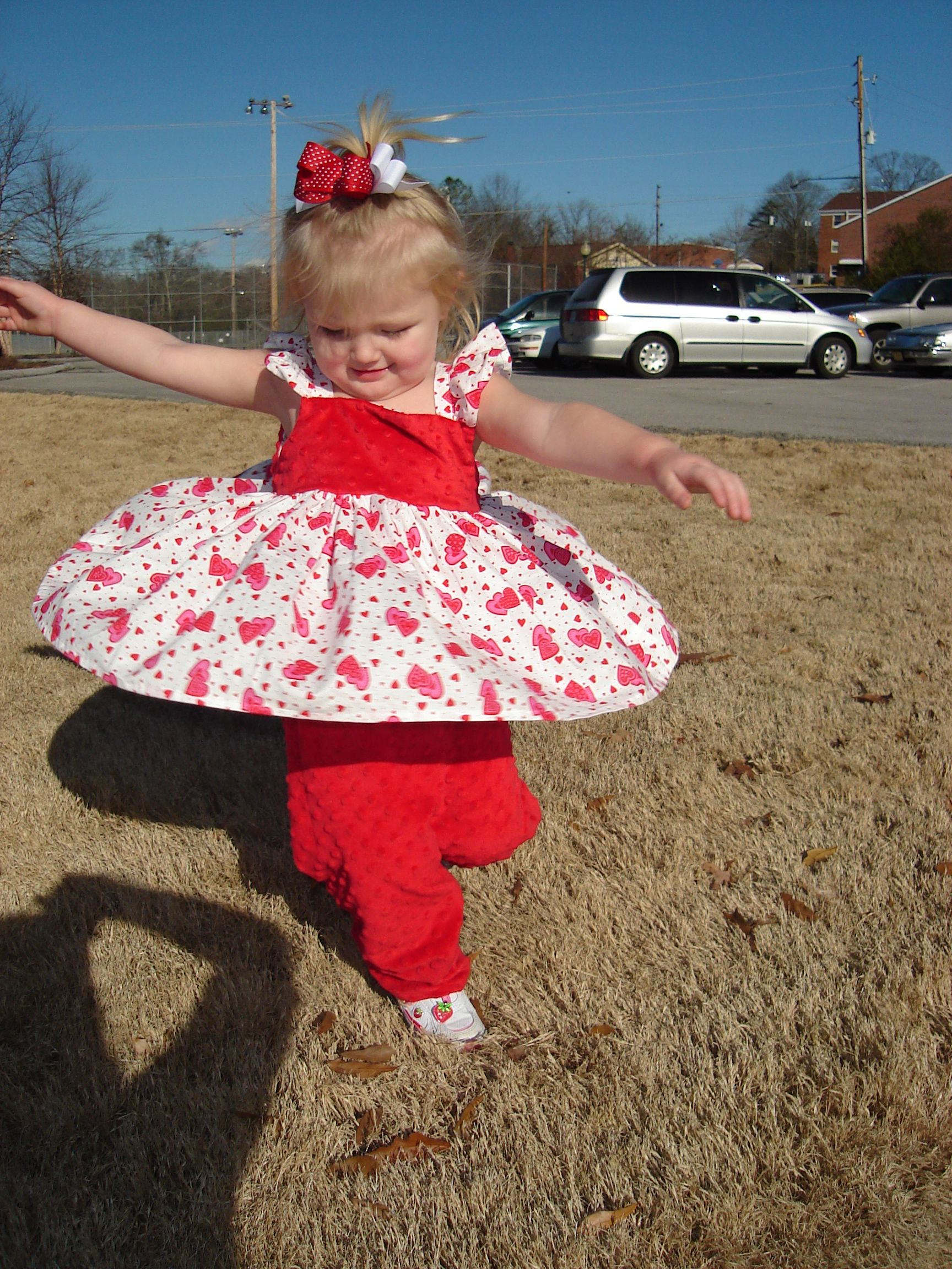 Custom made soft chenille Valentine outfit