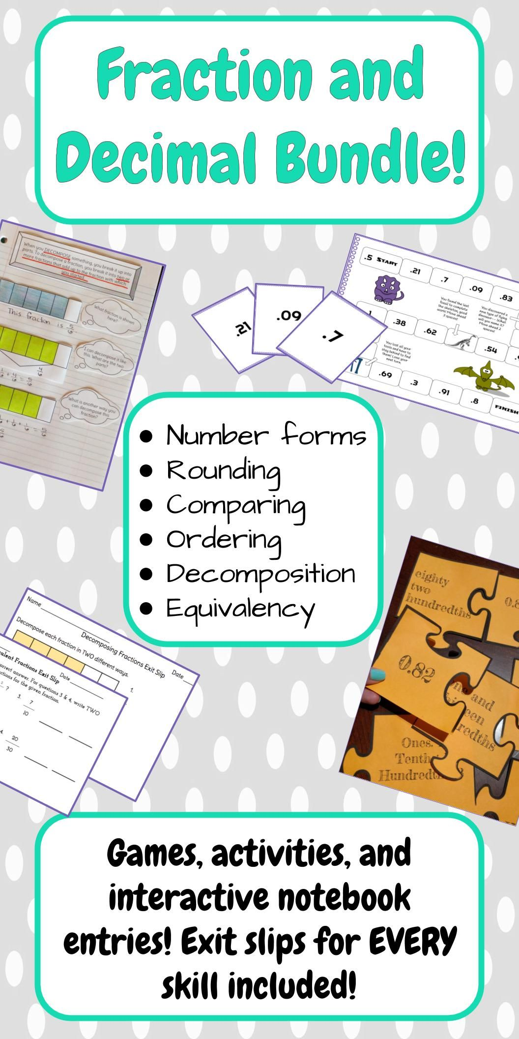 Fraction And Decimal Bundle
