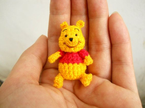 Winnie The Pooh Crochet Miniature Character Bear Stuffed By Suami