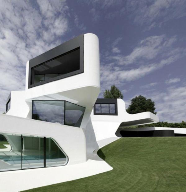 un bâtiment contemporain
