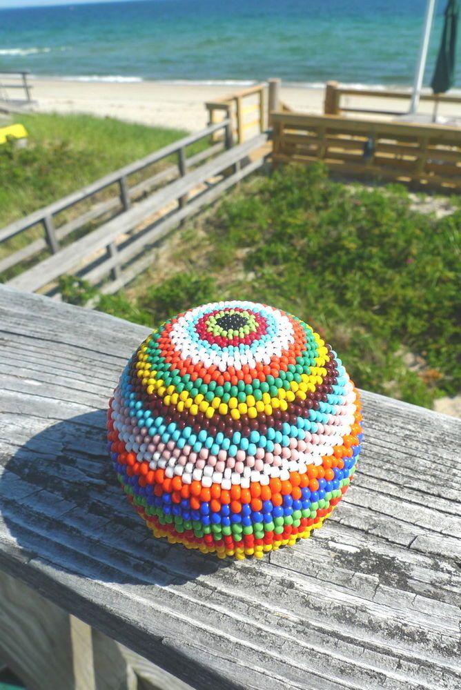 Handmade Beaded Ball Sphere #2 COLORFUL Home Decor  #Handmade