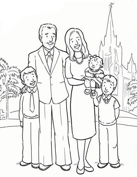 Families are Forever | LDS Coloring Pages | Pinterest | Primaria sud ...