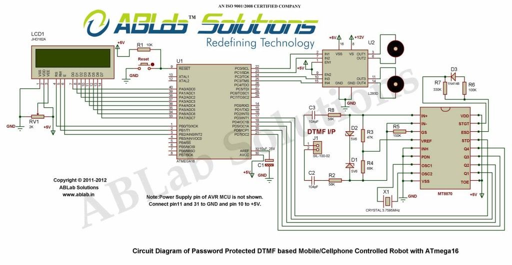 Password Protected Dtmf Based Mobile Phone Controlled Robotic Car