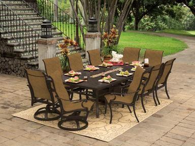 prestige outdoor patio sling dining collection pride family brands rh pinterest com prestige brand patio furniture prestige brand patio furniture