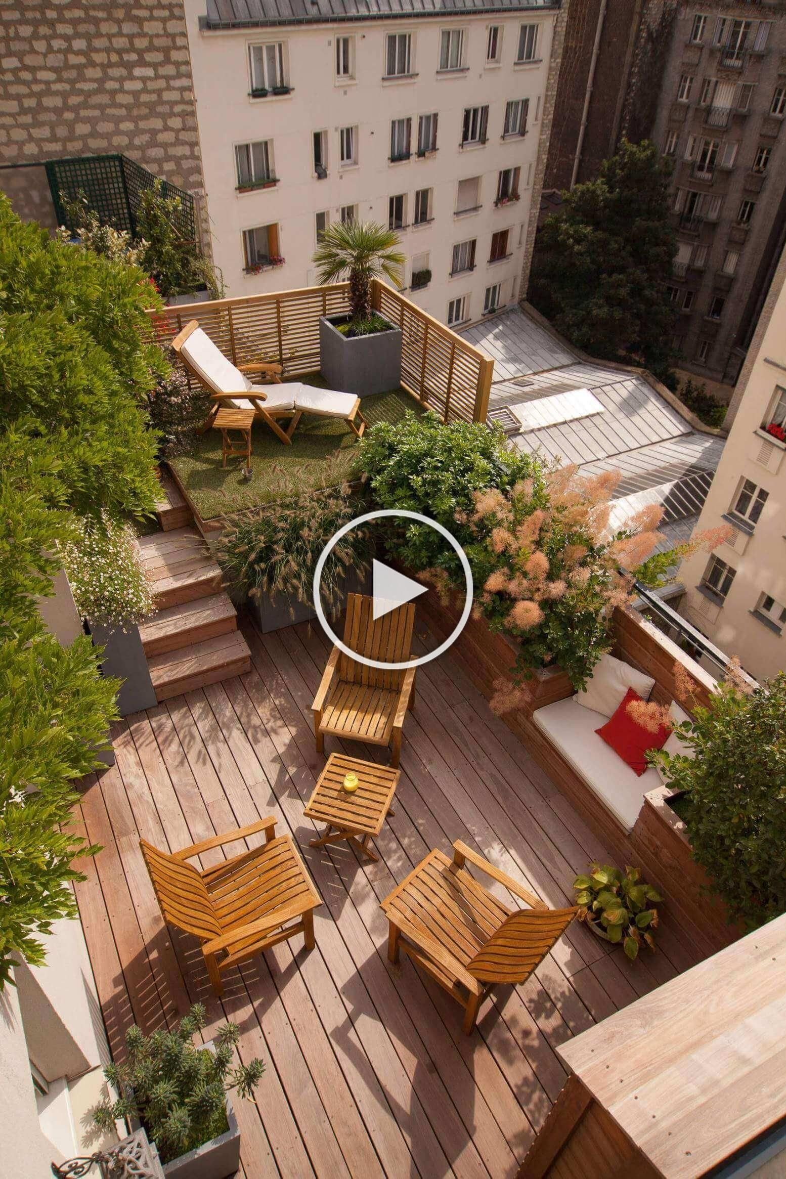 Either You Are Working With A Small Space Or You Need A High Deck Or A Second S Deck High Small Spa In 2020 Roof Terrace Design Balcony Decor Roof Garden Design