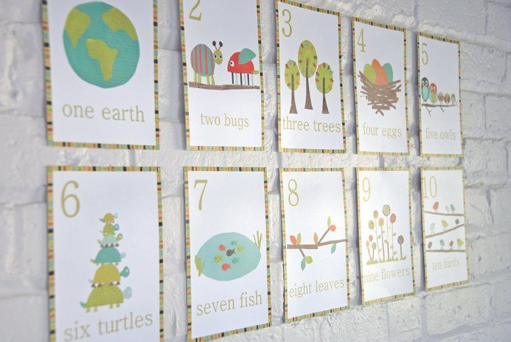 Nature Themed Counting Cards by Rebecca Peragine of Children Inspire Design