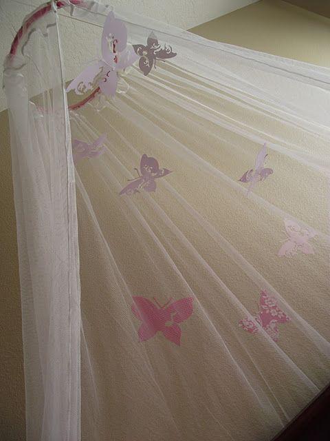 Himmelbett ikea baby  Butterfly Canopy DIY...use window sheers from IKEA | ladybugs ...
