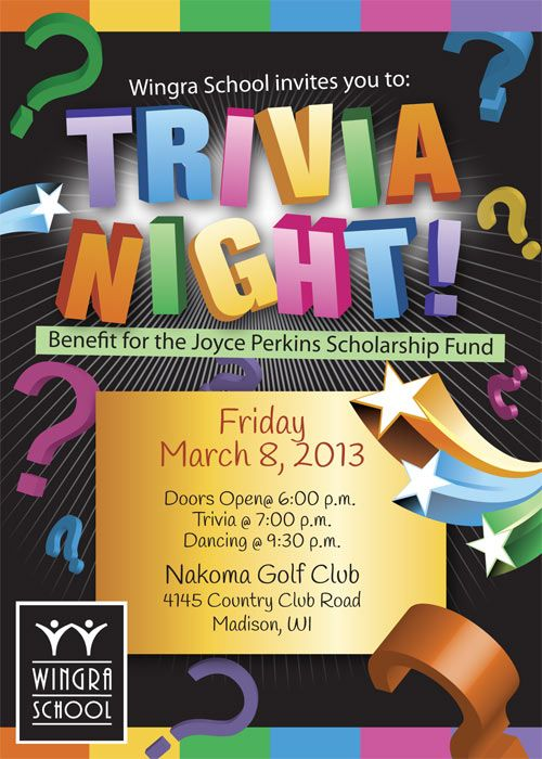 Trivia Night Event Flyer  Special Event Flyer Designs